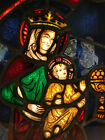 Sml Antique Leaded Stained Glass Window from Holland Church Mary