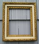 Antique Aesthetic Eastlake Victorian Gold Gilt with Cream Picture Frame 10 x 12