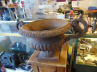 ANTIQUE CAST IRON GARDEN URN PLANTER
