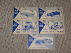 5 ORIGINAL 1954 & 1955 REVELL HIGHWAY PIONEERS MODELS INSTRUCTION BOOKLETS