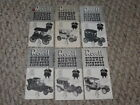 12 ORIGINAL UNDATED REVELL HIGHWAY PIONEERS MODEL INSTRUCTION BOOKLETS