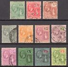 BRITISH VIRGIN ISLANDS 1922-8 KGV vals to 5s wmk Script CA U, SG 86/101 cat £225