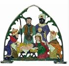 Three Kings with Gifts Standing Nativity Scene German Pewter Display Decoration