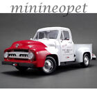 ACME A1807208 1953 FORD F 100 SO CAL SPEED SHOP PUSH TRUCK 1 18 WHITE RED
