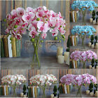 Artificial Butterfly Orchid Silk Fake Flower Wedding Party Phalaenopsis Bouquet