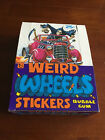 WEIRD WHEELS TRADING CARD EMPTY DISPLAY BOX TOPPS 1980