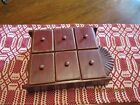 VINTAGE 6 DRAWER WOODEN APOTHECARY/SPICE CABINET W/SUN BURST-VERY NICE