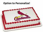 MLB St Louis Cardinals Edible Photo Cake Image Frosting Birthday Decoration