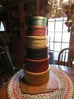 LARGE STACK OF WOODEN SHAKER STYLE BOXES - PAINTED - FINGER JOINTS