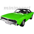 MAISTO 32612 1969 DODGE CHARGER R T 1 18 DIECAST MODEL CAR GREEN with BLACK TOP