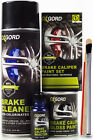 Black Paint for Brake Calipers Rotors Engine High Heat 2-Part Epoxy Brush-On Kit