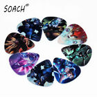 SOACH 10pcs 0.71mm Funny Acoustic Electric Guitar Picks Musical Accessories
