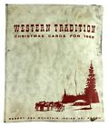 Western Tradition Christmas Cards 1968 Native American Artists Sales Sample Book