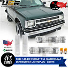 2 Day Ship Clear Front Corner+Signal Lights for 83 94 Chevy Blazer  82 93 S10