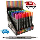 100 Art Pens Drawing Unique Colors Fineliner Twin Tip Marker 7mm Fineliner Tip