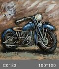 Vintage Harley Davidson Bike Motorcycle 3 Dimensional Oil Painting Canvas GIFT