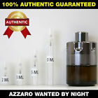 Azzaro Wanted By Night Men's 2ml 3ml 5ml 10ml AUTHENTIC DECANT SAMPLE ATOMIZER