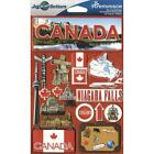 REMINISCE JET SETTERS CANADA TRAVEL VACATION DIMENSIONAL 3D SCRAPBOOK STICKERS