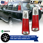 DEPO JDM Style Pair of Red Clear Tail Light For 1997 2001 Honda CRV CR V