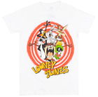 LOONEY TUNES CHARACTER T SHIRT WHITE MENS CARTOON TV SHOW TEE BUGS TAZ