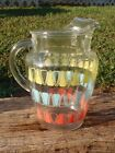 1950's Anchor Hocking Glass 86 Oz ICE LIP WATER PITCHER Atomic Geometric Design