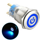 19mm 12v Led Power Symbol On-off Car Push Button Switch Latch Metal Waterproof