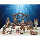 Kirkland Signature 13 Piece Christmas Nativity Set Joseph Mary Jesus Antique