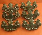 Set Of 6 Vintage Ilco Unican Canada CP-2522 Brass Drawer Pull Handle
