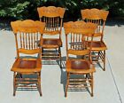 Spindle Back Dining Chairs Circa 1900