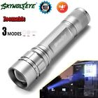 Tactical 15000LM 3 Modes T6 LED Flashllight 18650 Torch Lamp Silver Light gp