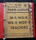 GENUINE 1940-53 INTERNATIONAL HARVESTER W-9 WD-9 WR-9 WDR-9 TRACTOR PARTS MANUAL