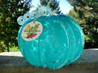 MajesticTurquoise Murano Style Swirl Neck Of TheWoods Hand Blown Glass Pumpkin