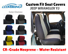 CR GRADE NEOPRENE CUSTOM FIT SEAT COVERS for 1995 JEEP WRANGLER YJ