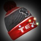 Houston Texans Big Logo Light Up Beanie Winter Hat Toque Cuffed Pom 2018 Knit