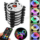 3 6 Pack RGB LED Quiet Computer Case PC Cooling Fan 120mm with Remote Control