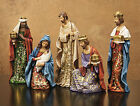 CHRISTMAS DECORATIONS JOY TO THE WORLD 5 PIECE NATIVITY SET FREE SHIPPING