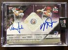 2018 Topps Now Aaron Judge Mike Trout All Star Game Used Base Relic Auto 13 25