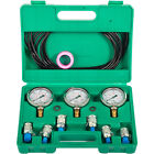 Hydraulic Pressure Test Kit 250 600Bar 6 Couplings 3 Hose 3 Gauge for Excavator