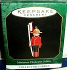 Clothespin Soldier`1997`Miniature-Canadian Mountie,#3 N Series,Hallmark Ornament