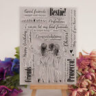Bestie Friend Transparent Silicone Clear Stamps Scrapbooking Embossing DIY Craft