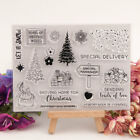 Chirstmas Snow Transparent Silicone Clear Stamps Scrapbooking Embossing DIY