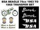 BSA Beagle 75cc 1963 to 1965 Full Transfer Set Classic Motorcycle BSA Decals