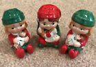 3 Vintage Avon Christmas Boy Girl Toys Salt and Pepper Shakers w Stoppers