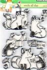 New Penny Black RUBBER STAMP clear Acrylic SMILE ALL DAY  free us ship