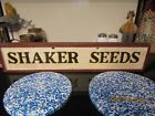 SHAKER SEED SIGN WOOD - RED, BLACK, MUSTARD- 24