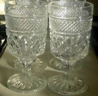 Wexford (4) Footed Water Goblets Anchor Hocking-R
