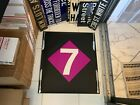 LARGE 26X23 VINTAGE NYC R62 SUBWAY SIGN MANHATTAN 7 EXPRESS LINE NY ROLL SIGN