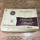 VINTAGE GE Pink ELECTRIC AUTOMATIC BLANKET w/ SLEEP GUARD IN BOX Twin
