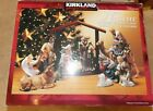 KIRKLAND SIGNATURE 12 PIECE NATIVITY CHRISTMAS SET PORCELAIN  WOOD 75177
