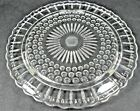 Lovely Vintage Glass CAKE CUPCAKE STAND PLATE Sandwich Daisy Bubble Federal Tray